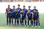 U-21U-21 Japan team group line-up (JPN), <br /> AUGUST 19, 2018 - Football / Soccer : <br /> Men's Group D match <br /> between Japan 0-1 Vietnam <br /> at Wibawa Mukti Stadium <br /> during the 2018 Jakarta Palembang Asian Games <br /> in Cikarang, Indonesia. <br /> (Photo by Naoki Morita/AFLO SPORT)