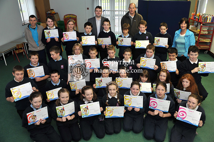 5th &amp; 6th class pupils from Faha National School pictured after receiving Swim Ireland Certificates following the completion of a swimming course at the Aquila Club in The Gleneagle Hotel, Killarney this week. Included in the  picture are at back, Dieter Gogsch, Linda O'Connor and Mike Seely from The Aquila Club, Jerry Fitzgerald, Faha NS Principal and infront from left, Clodagh Murphy, Ciara O'Shea, Niamh Cronin, Claire O'Leary, Nicola Giles, Sinead O'Donnell and Jessica O'Leary. Second row:David Coffey, Kaevin o'Connor, Evan o'Connor, Hayley Keane, Emer Tangney, Lauren Evans, Amanda O'Shea and Lauren Whelton. 3rd row: Ciaran Flynn, Sean Buchanan, Alan Lynch, Ronan Gallagher, Sean O'Sullivan, Barry Keane, Robert Giles, Eoin Blake and Cian O'Sullivan. 4th row, Shannon Tangney, Alyssa Fleming, Jordan O'Meara, Gerard Murphy, Mark O'Brien, Paudie Horgan and William Mangan.<br /> Picture by Don MacMonagle<br /> <br /> <br /> FREE PHOTO FROM THE AQUILA CLUB