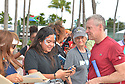 DELRAY BEACH, FL - NOVEMBER 23: Tate Donovan signs autographs during the 30TH Annual Chris Evert Pro-Celebrity Tennis Classic - Day 2 at the Delray Beach Tennis Center on November 23, 2019 in Delray Beach, Florida.  ( Photo by Johnny Louis / jlnphotography.com )