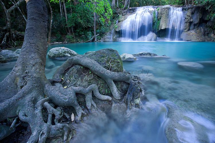 Erawan falls in the Erawan National Park