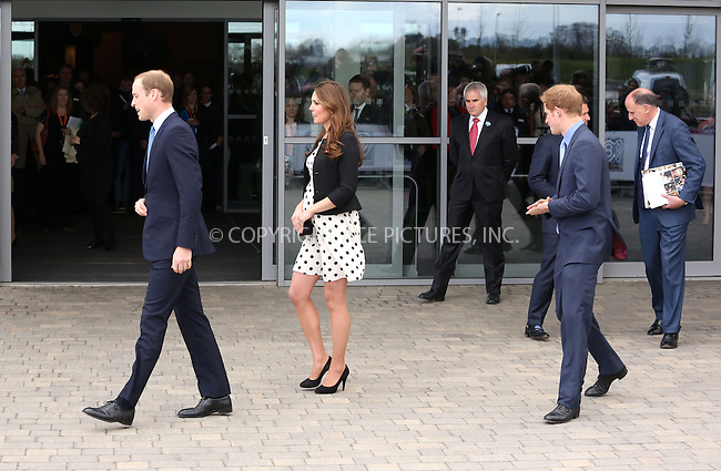 WWW.ACEPIXS.COM....US Sales Only....April 26 2013, Leavesden, England......Prince William, Kate Middleton, Catherine, Duchess of Cambridge and Prince Harry at the Inauguration of Warner Bros. Studios on April 26 2013 in Leavesden, England......By Line: Famous/ACE Pictures......ACE Pictures, Inc...tel: 646 769 0430..Email: info@acepixs.com..www.acepixs.com