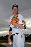 Feb 27, 2010; Tampa, FL, USA; Baltimore Orioles  pitcher Jim Johnson (43) during  photoday at Ed Smith Stadium. Mandatory Credit: Tomasso De Rosa/Four Seam Images