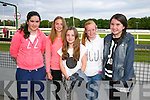 Enjoying the Castleisland Desmonds Fundraising Night at the Kingdom Greyhound Stadium on Saturday were  Tara Murphy, Saoirse Murphy, Marnie Horan, Caoimhe Cahill, Sinead Murphy
