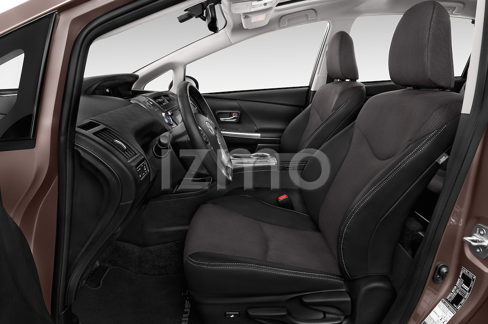 Front seat view of a 2015 Toyota Grand Prius+ 5 Door Mini Van front seat car photos