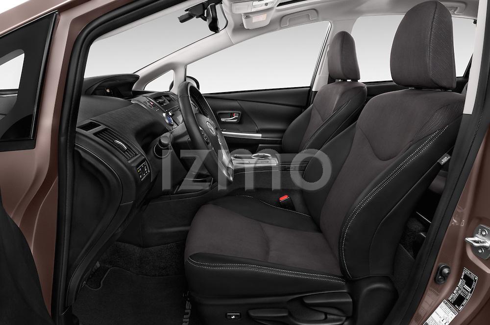 Front seat view of a 2015 Toyota Grand Prius+ 5 Door Mini Van front seat car photos