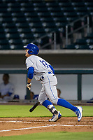 AZL Royals first baseman Nick Pratto (13) follows through on a home run swing against the AZL Cubs on July 19, 2017 at Sloan Park in Mesa, Arizona. AZL Cubs defeated the AZL Royals 5-4. (Zachary Lucy/Four Seam Images)