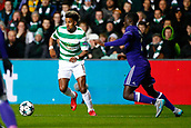 5th December 2017; Glasgow, Scotland;  Scott Sinclair midfielder of Celtic FC and Dennis Appiah defender of RSC Anderlecht  during the Champions League Group B match between Celtic FC and Rsc Anderlecht