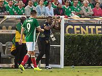 Pasadena, CA - Thursday June 09, 2016: Jamaica Head Coach Miguel Coley during a Copa America Centenario Group C match between Mexico (MEX) and Jamaica (JAM) at Rose Bowl Stadium.