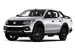 Stock pictures of low aggressive front three quarter view of a 2018 Fiat Fullback Cross Techno 4 Door Pick Up