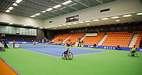 December 20, 2014, Rotterdam, Topsport Centrum, Lotto NK Tennis, overall view hall 1<br /> Photo: Tennisimages/Henk Koster