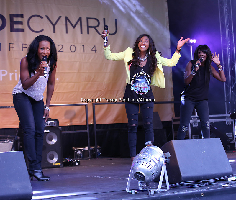 Saturday August 16, 2014 <br /> Picture: Eternal <br /> RE: Eternal performing on stage at Pride Cymru in Coopers Field, Cardiff, South Wales.