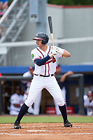 Drew Lugbauer (38) of the Danville Braves at bat against the Princeton Rays at American Legion Post 325 Field on June 25, 2017 in Danville, Virginia.  The Braves walked-off the Rays 7-6 in 11 innings.  (Brian Westerholt/Four Seam Images)