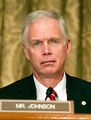 United States Senator Ron Johnson (Republican of Wisconsin) listens to the testimony of U.S. Secretary of Transportation Ray LaHood before the U.S. Senate Budget Commitee hearing on the President's FY 2013 Budget Request for the Department of Transportation (DOT) on Capitol Hill in Washington, D.C. on Wednesday, February 15, 2012..Credit: Ron Sachs / CNP