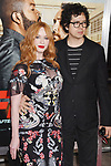 HOLLYWOOD, CA - FEBRUARY 13: Actors Christina Hendricks (L) and Geoffrey Arend attend the premiere of Warner Bros. Pictures' 'Fist Fight' at the Regency Village Theatre on February 13, 2017 in Westwood, California.