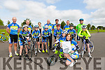 Evan Nealon who has Cystic fibrosis has two Dreams one was to cycle with Tralee bike club, which he has achieved, other is to sing with Ed Sheeran pictured  here with  members of Tralee Cycle club Front l-r Evan Nealon and Laura Jane Nealon.Middle row l-r Felix Walker, Dillon O'Sullivan, Ciarán Commane, Jack Duggan, Sean Lynch, and Colm Mannion.Back l-r Dick McElligott, James Costello, Elizabeth Koch, George Emmerson, Paudie O'Sullivan, Tommy Commane and Brian Mannion