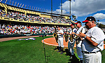 12 March 2009: The Walt Disney World Saxophone Quartet entertains fans between innings of a Spring Training game between the Atlanta Braves and the Washington Nationals at Disney's Wide World of Sports in Orlando, Florida. The Braves defeated the Nationals 6-2 in the Grapefruit League matchup. Mandatory Photo Credit: Ed Wolfstein Photo