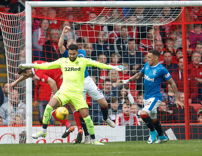 Wes Foderingham saves from Andy Considine