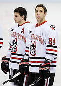 (Donovan), Drew Daniels (NU - 24) - The Northeastern University Huskies defeated the Boston College Eagles 3-2 on Friday, February 19, 2010, at Matthews Arena in Boston, Massachusetts.
