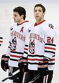 (Donovan), Drew Daniels (NU - 24) - The Northeastern University Huskies defeated the Boston College Eagles 3-2 on Friday, February 19, 2010, at Matthews Arena in Boston, Massachusetts.