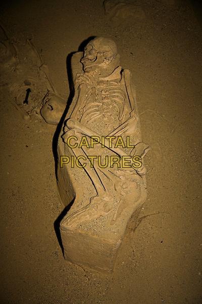 Skeleton in Chorro de Maita Site Museum, Chorro de Maita, Banes, near Guardalavaca, Holguin Province, Cuba