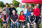 Having fun at the Killarney Rugby club family fun day on sunday were front row Ben O'Brien, Athony and Fiona Walsh, David Kennelly. Back row: Richard O'brien, Seamus Kelly, Emma Kennelly, Katie O'Reilly, and ann Marie Kennelly