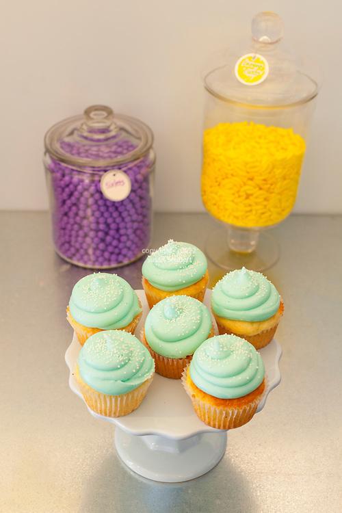 Sugar Sugar in Salem, Oregon.  Cupcakes with buttercream icing.
