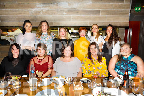 Staff from Ballyseedy Cafe enjoying a night out at No.4 The Square on Friday Front l-r Margaret Eagle, Kerrie Rusk, Ross Kelly, Caroline Griffin, Mairead Donovan, Back l-r andreanna Zealinska, Lily Topenalni, Alexandra Gill, Ladie lobasko, Viktorija Ziauberiene, Diane Evens