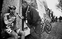 Fleche Wallonne 2012..Dennis Vanendert interviewed by Carl Berteele.