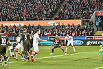 08.02.2019, Rheinenergiestadion, Köln, GER, DFL, 2. BL, VfL 1. FC Koeln vs FC St. Pauli, DFL regulations prohibit any use of photographs as image sequences and/or quasi-video<br /> <br /> im Bild Jhon Cordoba (#15, 1.FC Köln / Koeln)  macht das Tor zum 3:1<br /> <br /> Foto © nph/Mauelshagen