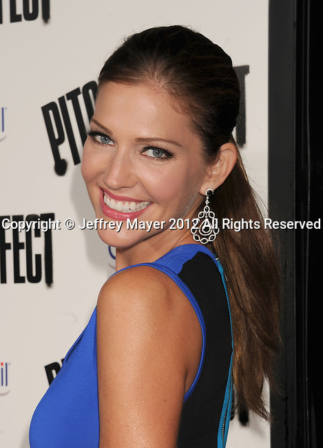 HOLLYWOOD, CA - SEPTEMBER 24: Tricia Helfer attends the 'Pitch Perfect' - Los Angeles Premiere at ArcLight Hollywood on September 24, 2012 in Hollywood, California.