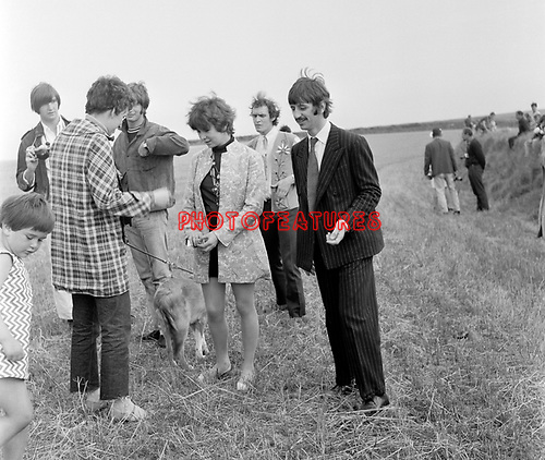 Beatles 1967 Ringo Starr and Neil Aspinall filming Magical Mystery Tour on Bodmin Moor<br /> © Chris Walter