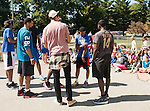 UK Men's Basketball team visits Picadome Elementary