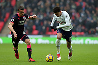Jonathan Hogg of Huddersfield Town and Dele Alli of Tottenham Hotspur during Tottenham Hotspur vs Huddersfield Town, Premier League Football at Wembley Stadium on 3rd March 2018