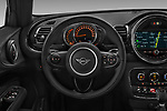 Car pictures of steering wheel view of a 2018 Mini Clubman Cooper Kensington 5 Door Wagon