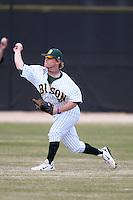 March 17, 2010:  Catcher/Infielder Tim Jallen (9) of North Dakota State University Bison vs. Long Island University at Lake Myrtle Park in Auburndale, FL.  Photo By Mike Janes/Four Seam Images