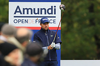 Benjamin Hebert (FRA) on the 14th tee during Round 4 of the Amundi Open de France 2019 at Le Golf National, Versailles, France 20/10/2019.<br /> Picture Thos Caffrey / Golffile.ie<br /> <br /> All photo usage must carry mandatory copyright credit (© Golffile | Thos Caffrey)