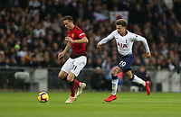 Manchester United's Nemanja Matic and Tottenham Hotspur's Dele Alli<br /> <br /> Photographer Rob Newell/CameraSport<br /> <br /> The Premier League - Tottenham Hotspur v Manchester United - Sunday 13th January 2019 - Wembley Stadium - London<br /> <br /> World Copyright &copy; 2019 CameraSport. All rights reserved. 43 Linden Ave. Countesthorpe. Leicester. England. LE8 5PG - Tel: +44 (0) 116 277 4147 - admin@camerasport.com - www.camerasport.com