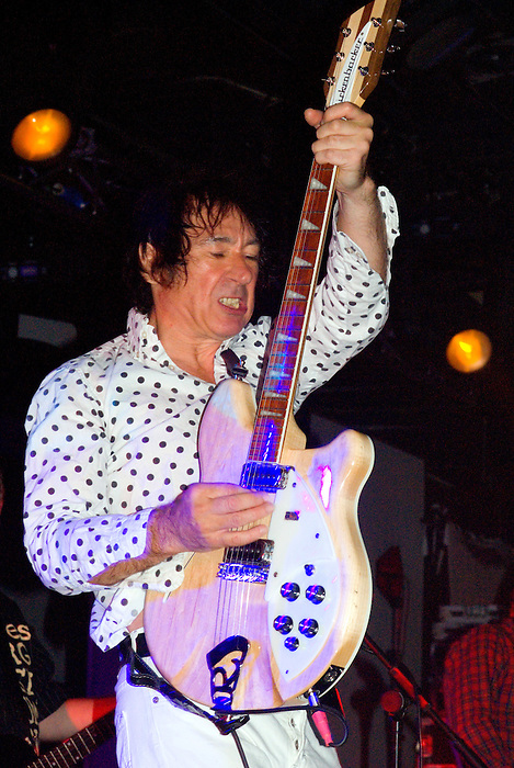 Buzzcocks [Steve Diggle pictured] performing live at All Tomorrow's Parties at Butlins in Minehead. 4th to 6th December 2009.
