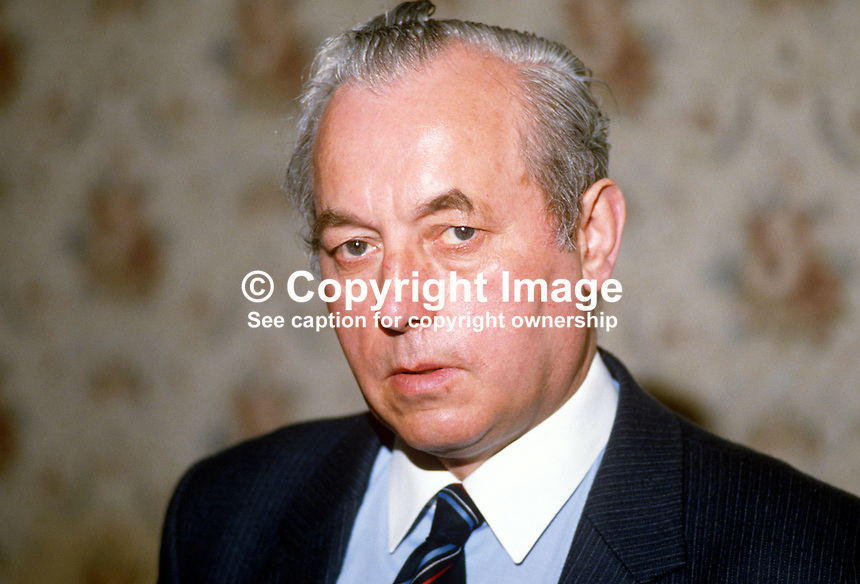 James McClure, assemblyman, Londonderry, Mayor of Coleraine, N Ireland, UK, 19840062JMC..Copyright Image from Victor Patterson, 54 Dorchester Park, Belfast, UK, BT9 6RJ..Tel: +44 28 9066 1296.Mob: +44 7802 353836.Voicemail +44 20 8816 7153.Skype: victorpattersonbelfast.Email: victorpatterson@me.com.Email: victorpatterson@ireland.com (back-up)..IMPORTANT: If you wish to use this image or any other of my images please go to www.victorpatterson.com and click on the Terms & Conditions. Then contact me by email or phone with the reference number(s) of the image(s) concerned.