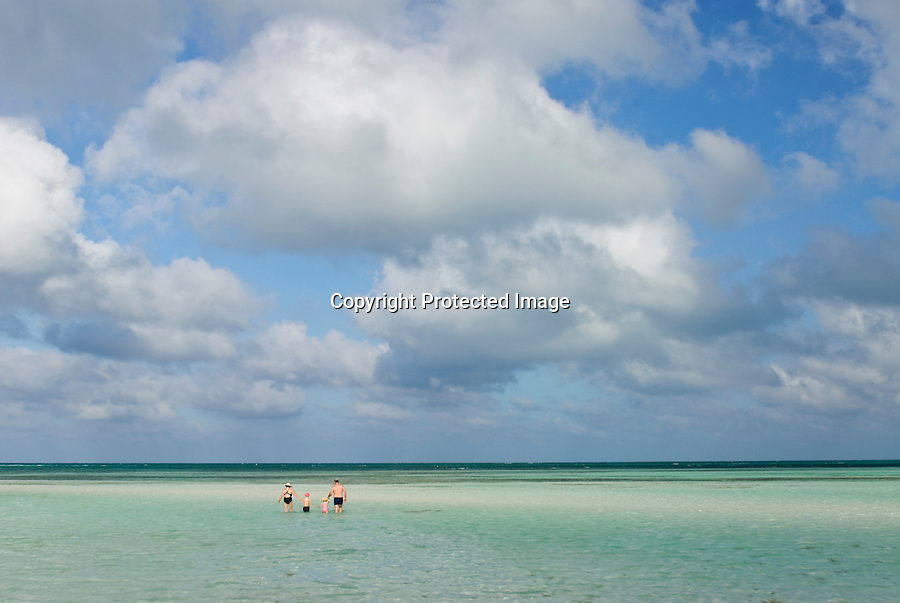 Cuba Cayo Guillermo beach and resort, near Cayo Coco. Carribean beautiful beach on the Carribean Sea.