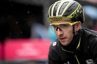 Simon Yates (GBR/Mitchelton-Scott) ahead of a super rainy stage 5 in Frascati<br /> <br /> Stage 5: Frascati to Terracina (140km)<br /> 102nd Giro d'Italia 2019<br /> <br /> ©kramon