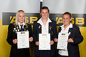 Girls Football finalists Betsy Hassett, Anna Green & Annalie Longo. ASB College Sport Young Sportperson of the Year Awards 2008 held at Eden Park, Auckland, on Thursday November 13th, 2008.