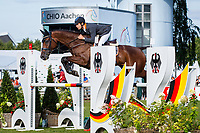 AUS-Christopher Burton rides Quality Purdey during the SAP Cup - CICO4*-S Nations Cup Eventing Showjumping. Interim-9th. 2019 GER-CHIO Aachen Weltfest des Pferdesports. Friday 19 July. Copyright Photo: Libby Law Photography