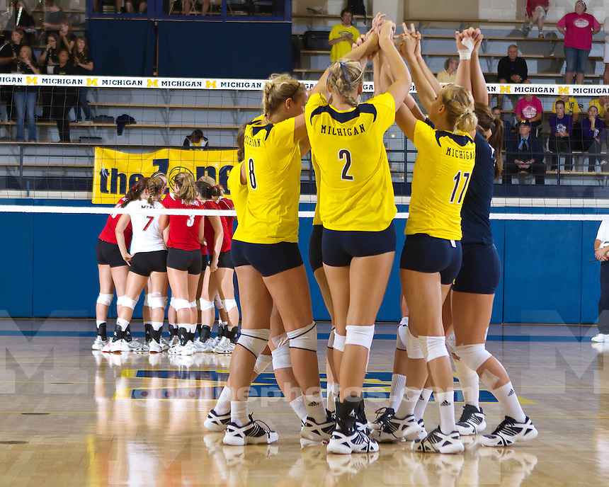 The University of Michigan Women's Volleyball 3 to 0 win over Miami of Ohio at Cliff Keen Arena on 9/11/10