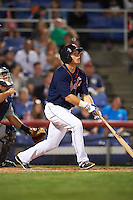 Binghamton Mets outfielder Jared King (24) at bat during a game against the Trenton Thunder on August 8, 2015 at NYSEG Stadium in Binghamton, New York.  Trenton defeated Binghamton 4-2.  (Mike Janes/Four Seam Images)