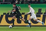 01.12.2019, Volkswagen Arena, Wolfsburg, GER, 1.FBL, VfL Wolfsburg vs SV Werder Bremen<br /><br />DFL REGULATIONS PROHIBIT ANY USE OF PHOTOGRAPHS AS IMAGE SEQUENCES AND/OR QUASI-VIDEO.<br /><br />im Bild / picture shows<br />Robin Knoche (VfL Wolfsburg #31), <br />Milot Rashica (Werder Bremen #07), <br /><br />Foto © nordphoto / Ewert