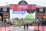 Esteban Chaves (COL) Mitchelton-Scott wins the stage with team mate Simon Yates (GBR) taking over the race lead on the slopes of Mount Etna at the finish of Stage 6 of the 2018 Giro d'Italia, running 169km from Caltanissetta to the Etna (Osservatorio Astrofisico), Sicily, Italy. 10th May 2018.<br /> Picture: LaPresse/Gian Mattia D'Alberto | Cyclefile<br /> <br /> <br /> All photos usage must carry mandatory copyright credit (&copy; Cyclefile | LaPresse/Gian Mattia D'Alberto)