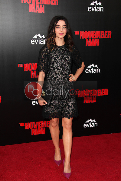 Caterina Scorsone<br /> at the &quot;The November Man&quot; World Premiere, TCL Chinese Theater, Hollywood, CA 08-13-14<br /> David Edwards/DailyCeleb.com 818-249-4998