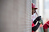 Cincinnati Reds center fielder Andy Sugilio (96) during a Minor League Spring Training game against the Los Angeles Angels at the Cincinnati Reds Training Complex on March 15, 2018 in Goodyear, Arizona. (Zachary Lucy/Four Seam Images)