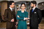 "Jaime Lorente, Yara Puebla and Angel de Molina during the presentation of the new characters for the new season of the tv series ""El Secreto de Puente Viejo""  in Madrid, February 10, Madrid."
